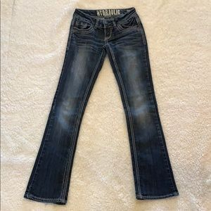 Hydraulic bootcut jeans, size 0 short